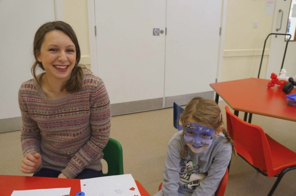 Face painting at Christmas Fete. CSL 2012