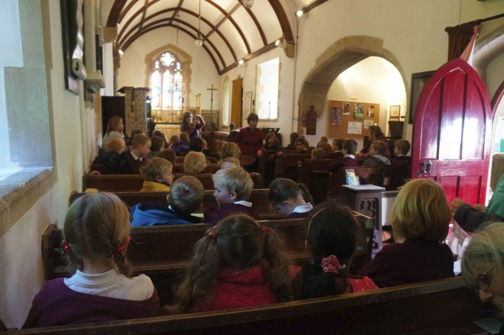 Children from CSL Primary School visit Heathfield church. 2012