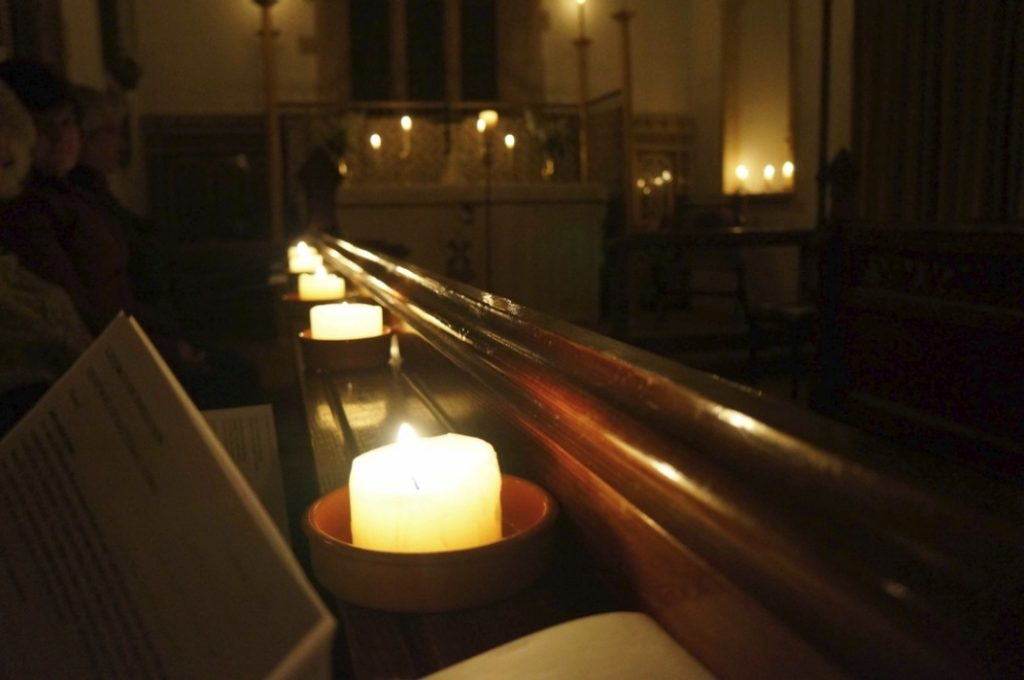 Service of Light. The Church of St John the Baptist. Heathfield. 2012
