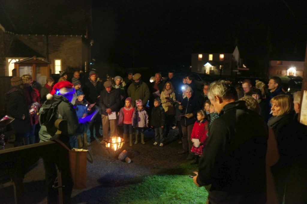 Carols on the green. The Church of the Holy Cross. Hillfarrance. 2012